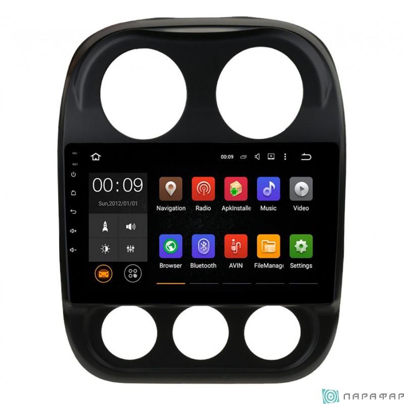 Штатная магнитола Parafar с IPS матрицей для Jeep Compass 2014 на Android 6.0 (PF998Lite) штатная магнитола parafar для volkswagen touareg 2003 2010 на android 7 1 1 pf042p