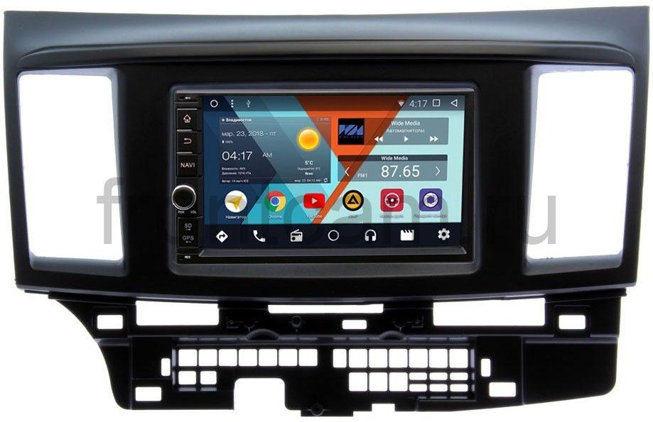 Штатная магнитола Wide Media WM-VS7A706NB-RP-MMLNB-49 для Mitsubishi Lancer X 2007-2018 Android 7.1.2 (+ Камера заднего вида в подарок!)