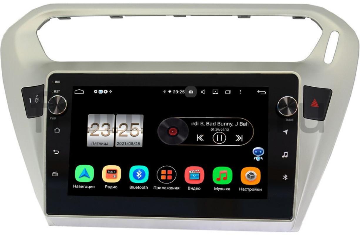 Штатная магнитола Citroen C-Elysee 2012-2021 LeTrun BPX409-9118 на Android 10 (4/32, DSP, IPS, с голосовым ассистентом, с крутилками) (+ Камера заднего вида в подарок!)
