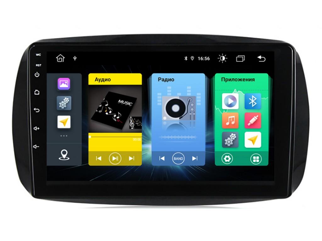 Головное устройство vomi FX460R9-MTK-LTE для Smart Forfour W453 07.2014+, Fortwo C453 3-поколение 06.2014+ (+ Камера заднего вида в подарок!)