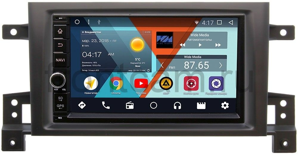 Штатная магнитола Wide Media WM-VS7A706NB-RP-SZES3d-14 для Suzuki Grand Vitara III 2005-2015 Android 7.1.2