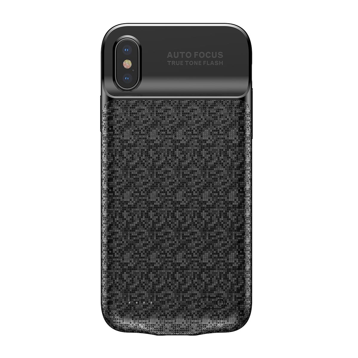 Аккумулятор чехол Baseus Plaid Backpack Power Bank Case 3500MAH для iPhoneX Черный