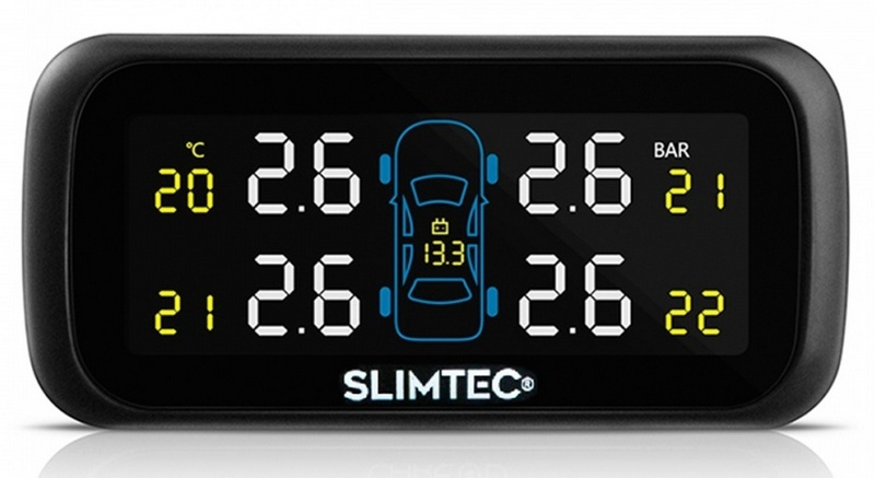 Датчики давления в шинах внешние Slimtec TPMS X4 only one audio auto car wireless tpms tire pressure alarm system solar energy tpms with 4 internal sensors car diagnostic tool