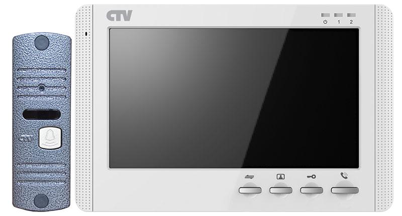 Комплект видеодомофона CTV-DP1704MD (белый) (+ Автомобильные коврики для впитывания влаги в подарок!)