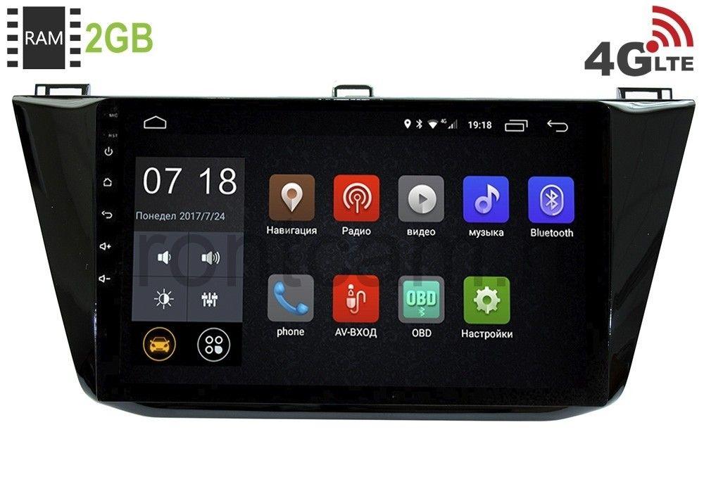 Штатная магнитола LeTrun 1861 для Volkswagen Tiguan II (2016-2019) Android 6.0.1 (+ Камера заднего вида в подарок!)