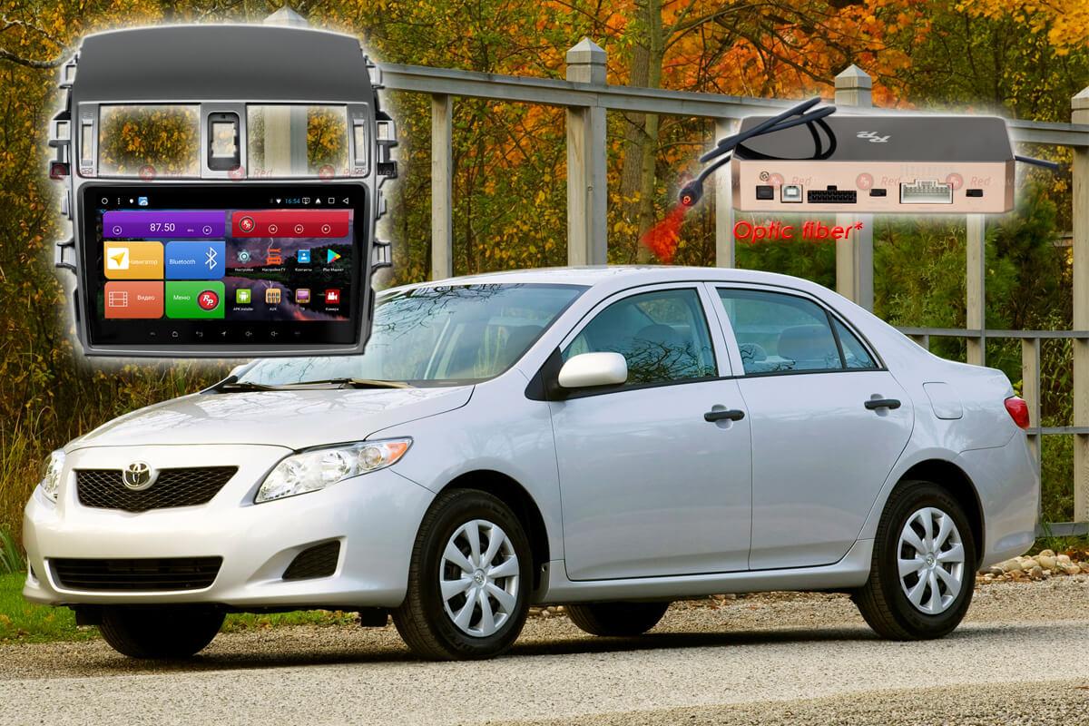 Автомагнитола для Toyota Corolla RedPower K 51063 R IPS DSP ANDROID 8+ (+ Камера заднего вида в подарок!)