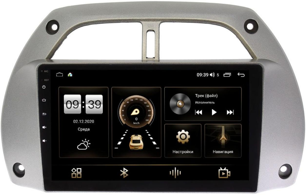 Штатная магнитола LeTrun 4196-9-262 для Toyota RAV4 (XA20) 2000-2005 на Android 10 (6/128, DSP, QLed) С оптическим выходом (+ Камера заднего вида в подарок!)