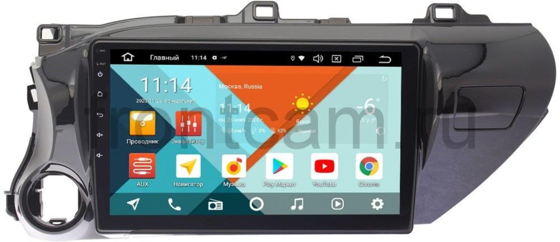 Штатная магнитола Toyota Hilux VIII 2015-2018 Wide Media KS1071QM-2/32 DSP CarPlay 4G-SIM на Android 10 (для авто без магнитолы) (+ Камера заднего вида в подарок!)