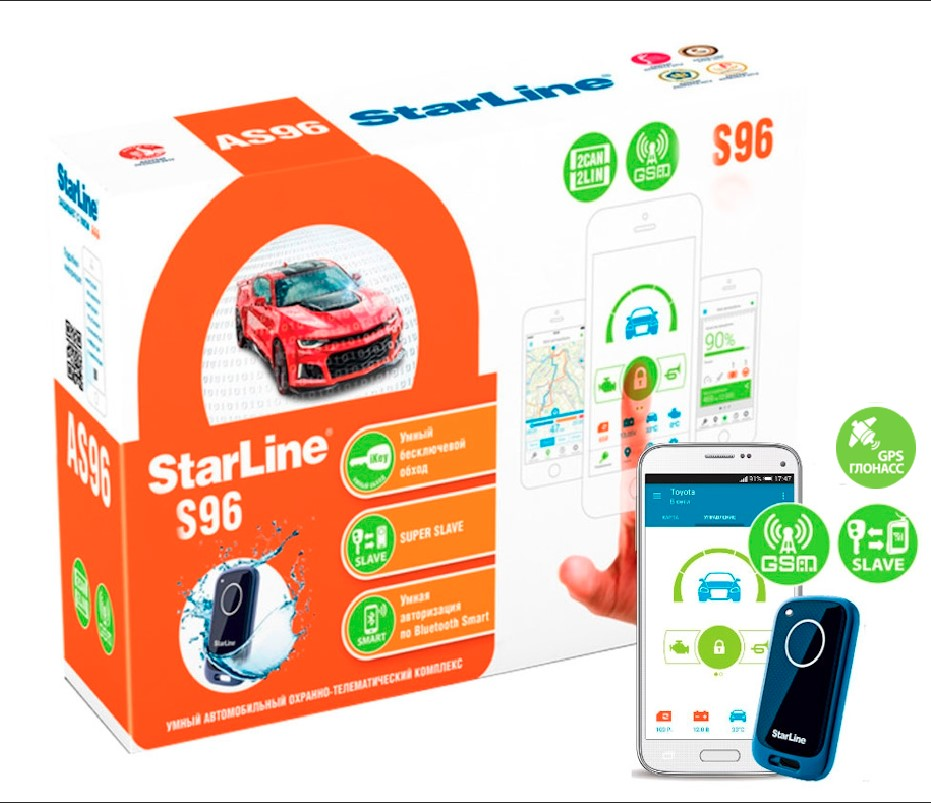 цены Автосигнализация StarLine S96 BT 2CAN+2LIN GSM/GPS+ГЛОНАСС