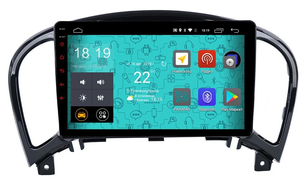 Штатная магнитола Parafar 4G/LTE с IPS матрицей для Nissan Juke 2010+ на Android 7.1.1 (PF789) (+ Камера заднего вида в подарок!)
