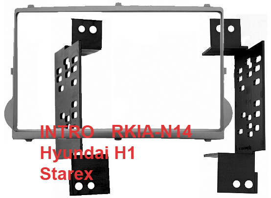 Переходная рамка Intro RHY-N14 для Hyundai H1 Starex 07+ 2DIN (крепеж) kit thule hyundai h1 starex 08 with dual sliding doors