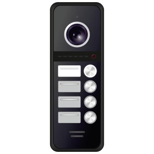 HD вызывная панель 1.3 Мп 4 абонентская Novicam FANTASY BLACK (+ Автомобильные коврики для впитывания влаги в подарок!)