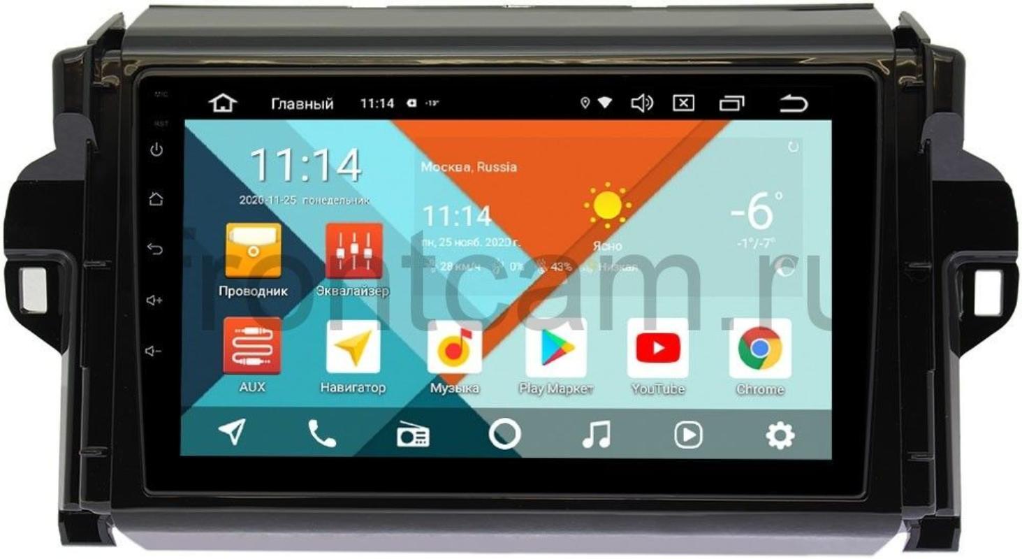 Штатная магнитола Toyota Fortuner II Wide Media KS9106QR-3/32 DSP CarPlay 4G-SIM Android 10 (+ Камера заднего вида в подарок!)