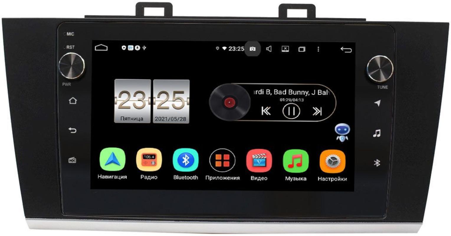 Штатная магнитола LeTrun BPX409-9192 для Subaru Legacy VI, Outback V 2014-2019 на Android 10 (4/32, DSP, IPS, с голосовым ассистентом, с крутилками) (+ Камера заднего вида в подарок!)