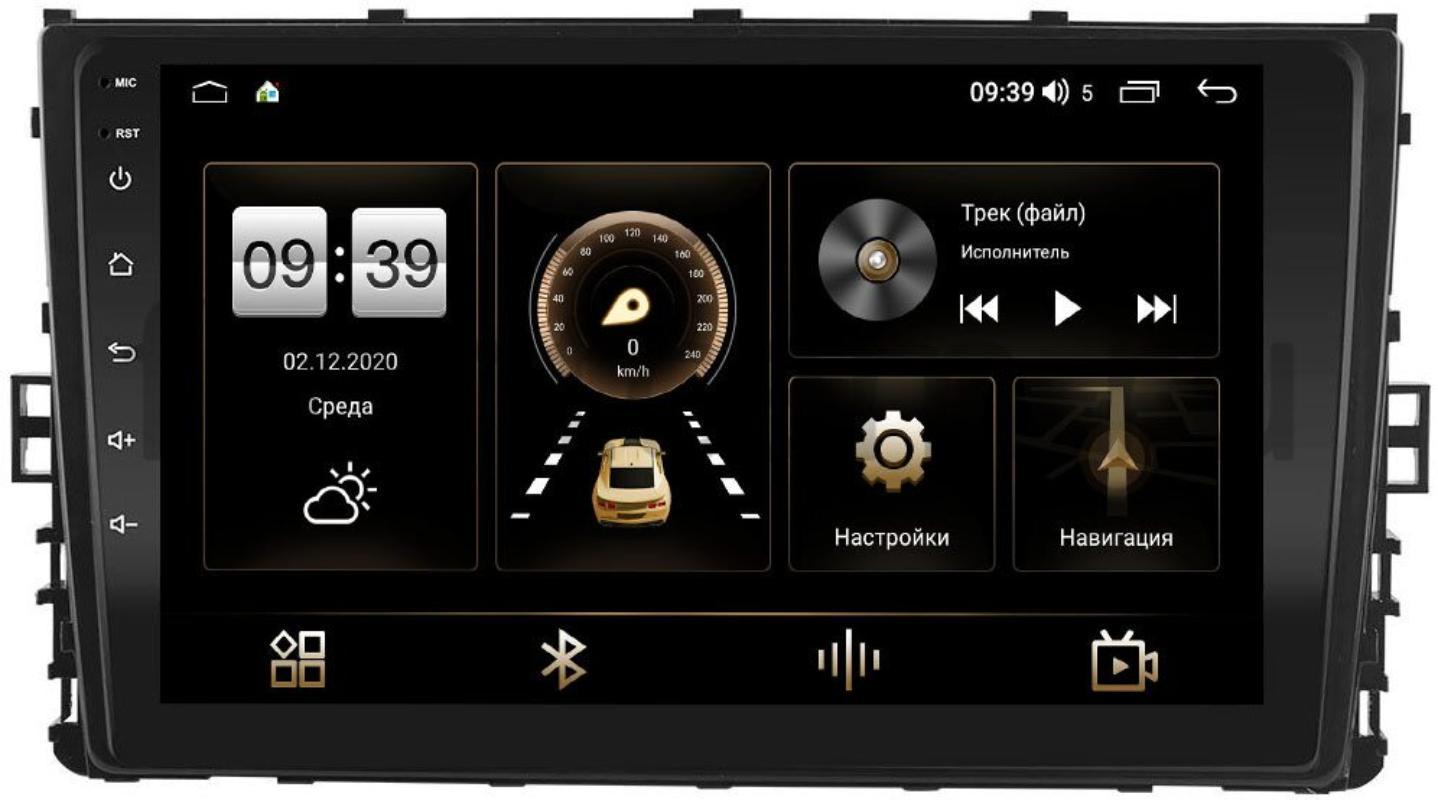 Штатная магнитола LeTrun 4166-9299 для Volkswagen Jetta 2019+, Arteon 2019+, Tiguan 2016+, Passat B8 2015+, Teramont 2017+, Transporter T6 2020+, Caravelle T6 2019+ на Android 10 (4G-SIM, 3/32, DSP, QLed) (+ Камера заднего вида в подарок!)