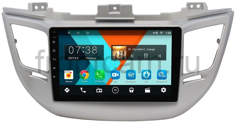 Штатная магнитола Hyundai Tucson III 2015-2017 Wide Media MT9041MF-2/16 на Android 7.1.1 для авто без камеры (+ Камера заднего вида в подарок!)