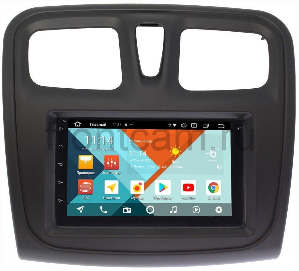 Магнитола для Renault Logan II, Sandero II 2013-2020 Wide Media KS7001QR-3/32-RP-RLSS-154 на Android 10 (API 29) (DSP CarPlay 4G-SIM) (+ Камера заднего вида в подарок!)