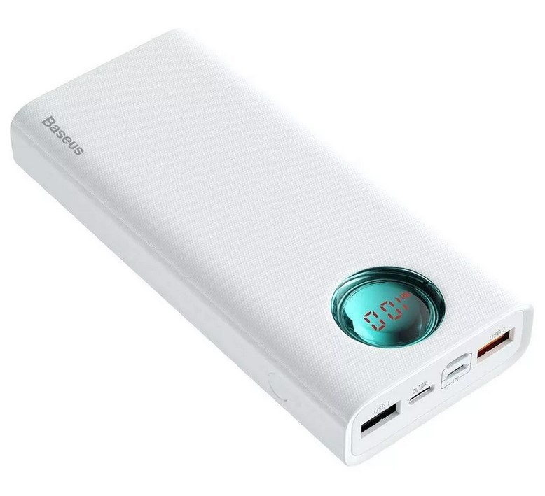 Внешний аккумулятор Baseus Amblight Quick Charge 33W (PD3.0+QC3.0) 30000mAh белый