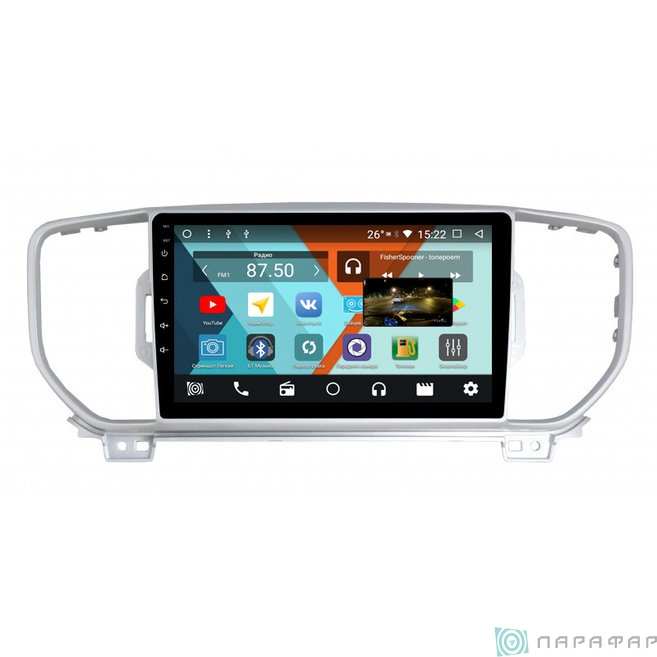 Штатная магнитола Parafar с IPS матрицей для Kia Sportage 2016+ на Android 8.1.0 (PF576K) штатная магнитола letrun 1867 для kia sportage 2010 2016 android 6 0 1