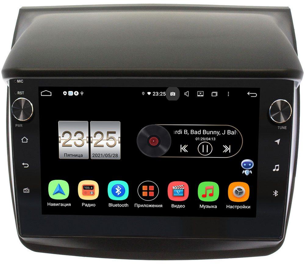 Штатная магнитола LeTrun BPX609-9057 для Mitsubishi Pajero Sport II 2008-2014, L200 IV 2006-2015 на Android 10 (4/64, DSP, IPS, с голосовым ассистентом, с крутилками) (+ Камера заднего вида в подарок!)