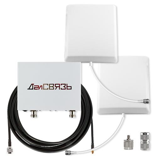 Усилитель сигнала сотовой связи и интернета ДалCвязь DS-900/2100-17 C3 репитер сигнала сотовой связи и интернета далcвязь ds 900 1800 2100 27