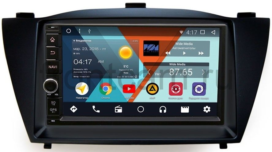 Штатная магнитола Wide Media WM-VS7A706NB-RP-HDI35-32 для Hyundai ix35, Tucson II 2011-2015 Android 7.1.2 hyundai штатное магнитола s160 для tucson 2015 на android m546