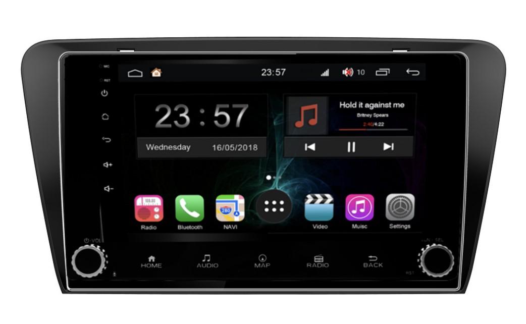 Штатная магнитола FarCar s300-SIM 4G для Skoda Octavia A7 на Android (RG483RB) (+ Камера заднего вида в подарок!) ковры в салон срк skoda octavia a7 2013