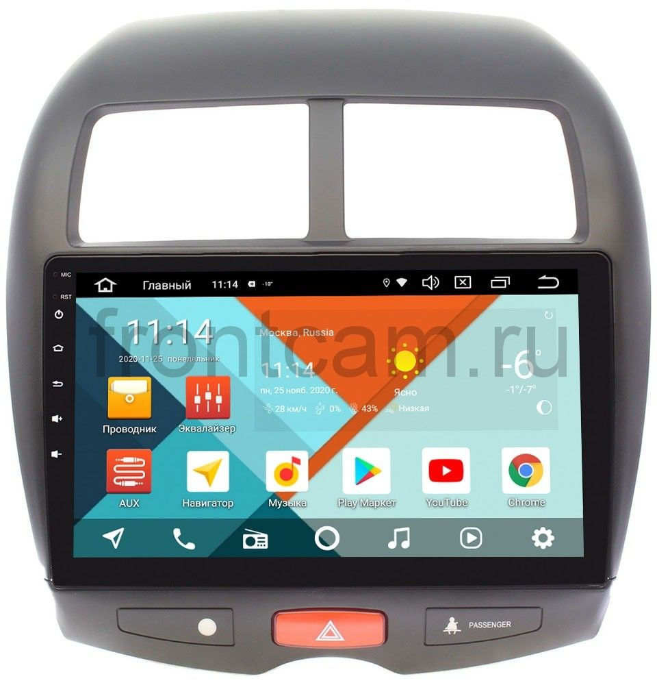 Штатная магнитола Wide Media KS1032QM-2/32 DSP CarPlay 4G-SIM для Mitsubishi ASX I 2010-2018 на Android 10 (+ Камера заднего вида в подарок!)