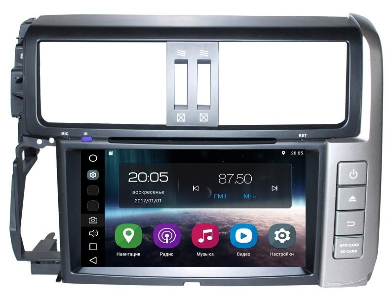 Штатная магнитола FarCar s200 для Toyota Land Cruiser Prado 150 (2009-2013) на Android (V065) ветровики ст toyota land cruiser prado 150 2009