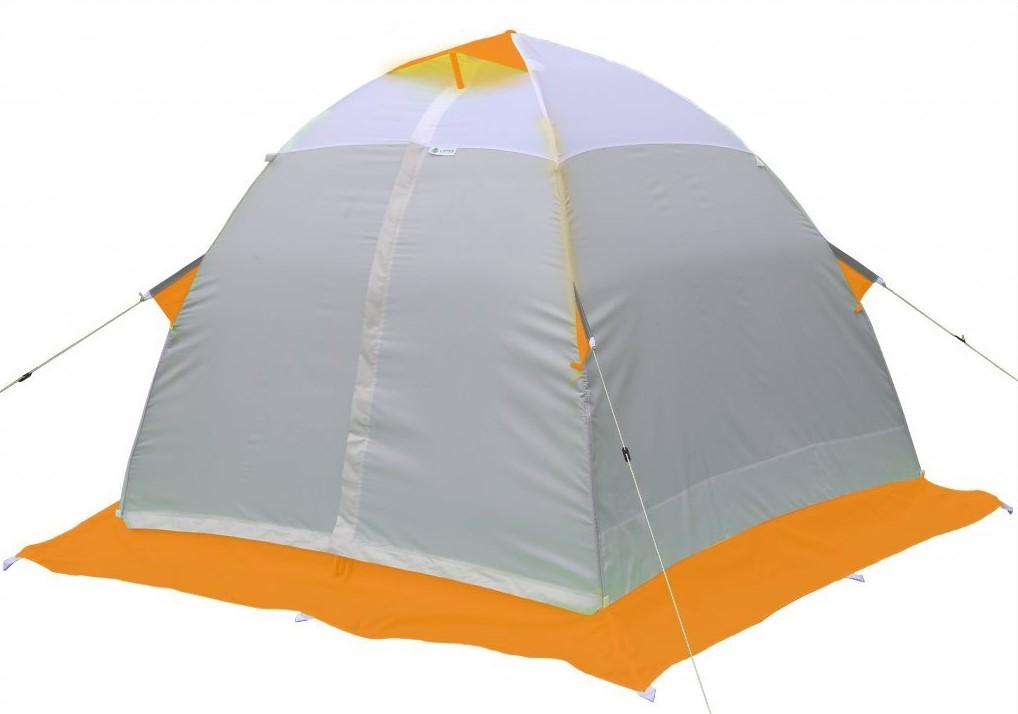 Зимняя палатка Лотос 2С оранжевый (стеклокомпозитный каркас)