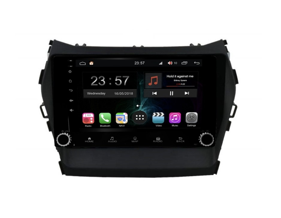 Штатная магнитола FarCar s300-SIM 4G для Hyundai Santa Fe 2012+ на Android (RG209RB) (+ Камера заднего вида в подарок!)