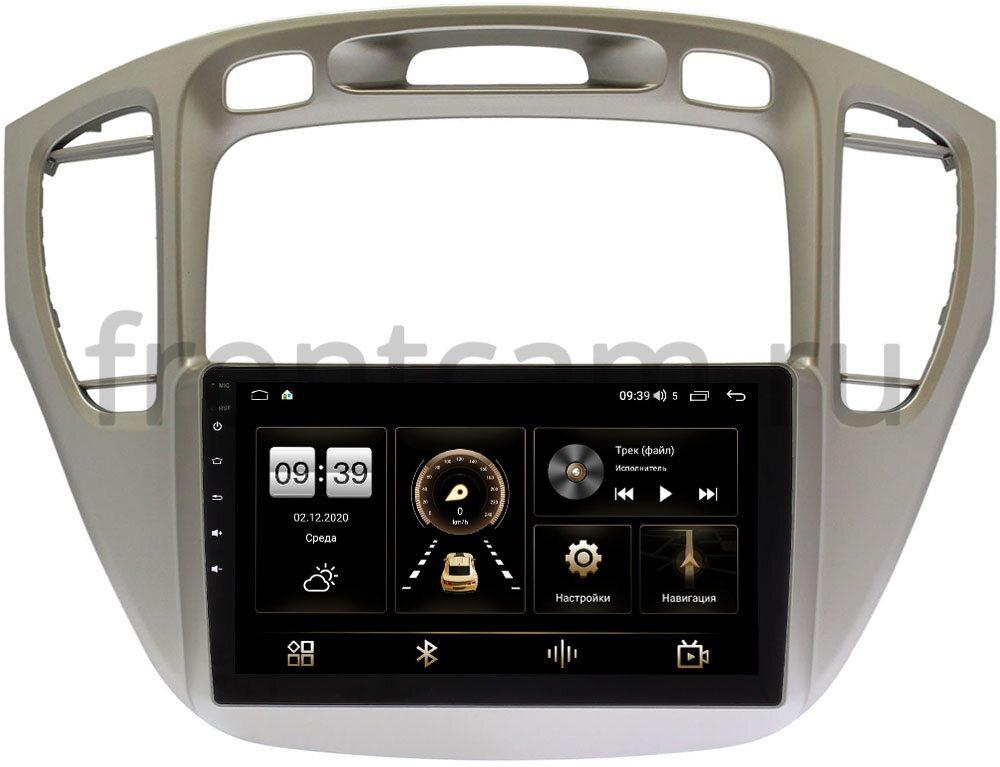 Штатная магнитола LeTrun 4166-9-409 для Toyota Highlander (U20) 2001-2007 на Android 10 (4G-SIM, 3/32, DSP, QLed) (+ Камера заднего вида в подарок!)