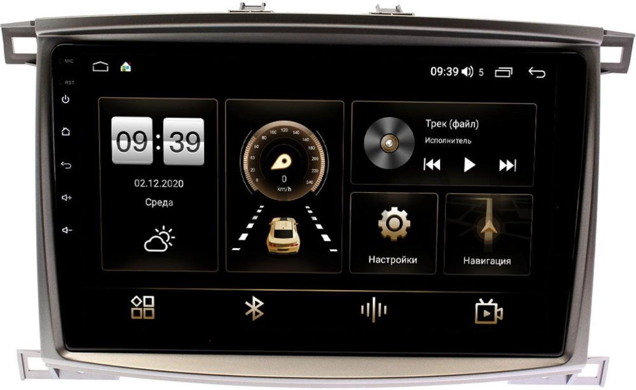 Штатная магнитола Toyota LC 100 2002-2007 LeTrun 4165-1098 на Android 10 (4G-SIM, 3/32, DSP, QLed) (+ Камера заднего вида в подарок!)
