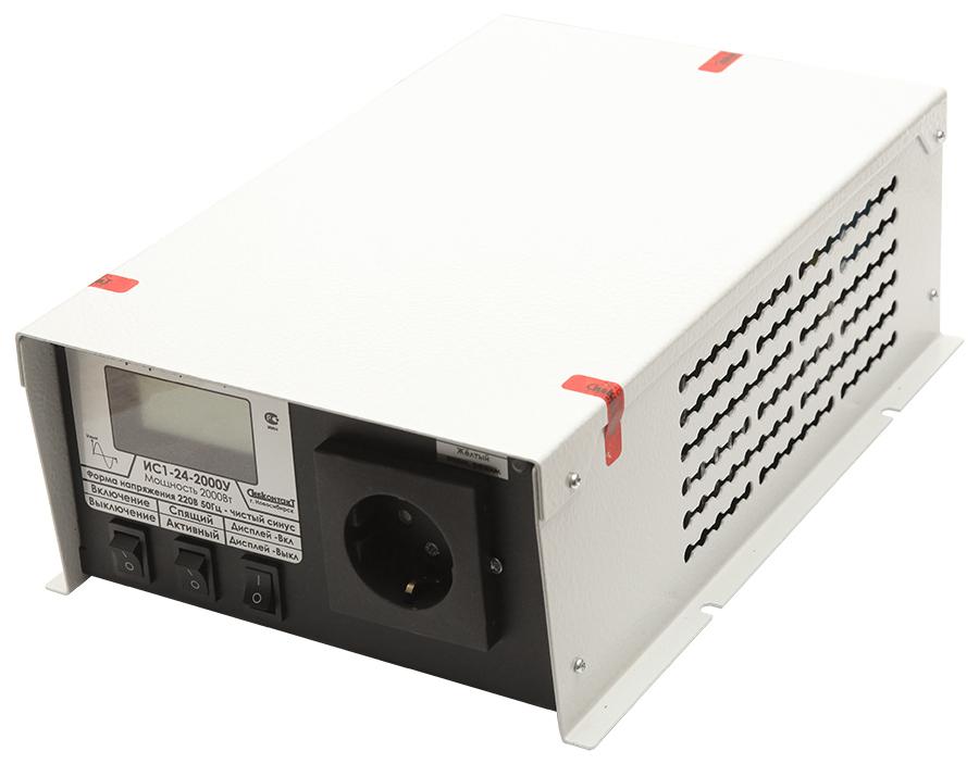 Инвертор Сибконтакт ИС1-24-2000У DC-AC, 24В/2000Вт (+ Набор предохранителей в подарок!)