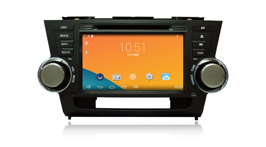Штатная магнитола CARMEDIA DT-5205 DVD Toyota Highlander 2007-2013 U40 lsqstar 8 android4 0 capacitive screen car dvd player w gps fm bt wifi swc tv aux for toyota prius
