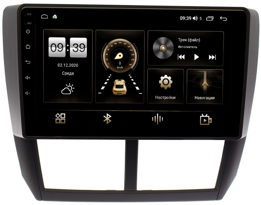 Штатная магнитола Subaru Forester, Impreza 2008-2014 LeTrun 3792-9080 на Android 10 (4/64, DSP, QLed) С оптическим выходом (+ Камера заднего вида в подарок!)