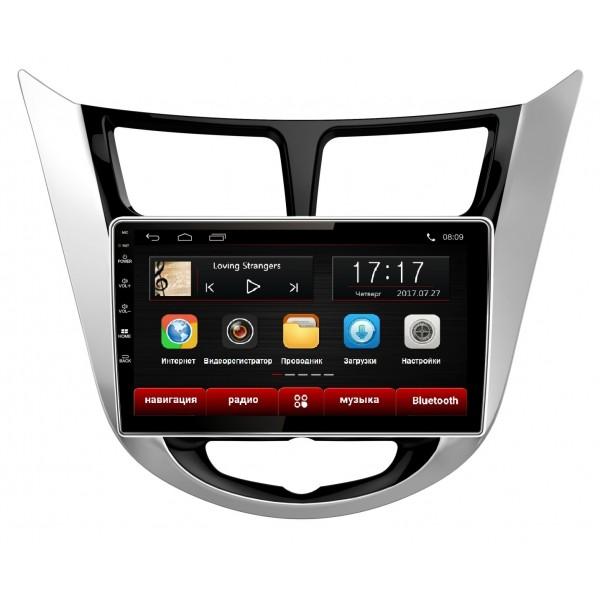 Головное устройство Subini HYD901 с экраном 9 для Hyundai Solaris 2011+ (+ Камера заднего вида в подарок!).