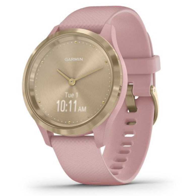 Garmin Vivomove 3S золотистый циферблат с розовым ремешком умные часы garmin vivomove 3 черные с черным силиконовым ремешком