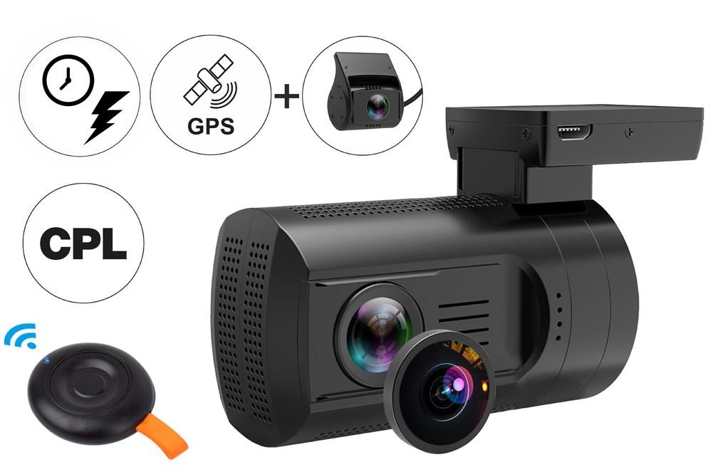 Видеорегистратор TrendVision Mini 2CH GPS PRO (+ Карта памяти microSD на 32 ГБ в подарок!)