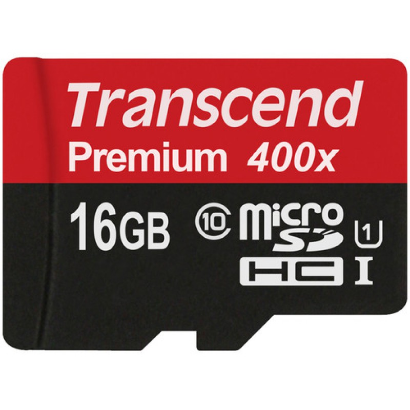 Карта памяти MicroSDHC 16GB Transcend Class10 Premium 400x