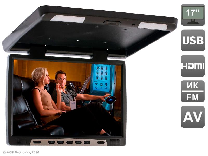 Фото - Автомобильный потолочный монитор 17,3 Avis AVS117 (черный) потолочный светильник globo marie i 48161 2