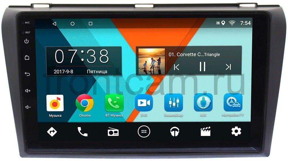 Штатная магнитола Mazda 3 (BK) 2003-2009 Wide Media MT9032MF-2/16 на Android 7.1.1 (+ Камера заднего вида в подарок!) стоимость