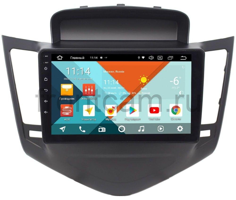 Штатная магнитола Wide Media KS9010QR-3/32 DSP CarPlay 4G-SIM для Chevrolet Cruze I 2009-2012 (черная) на Android 10 (+ Камера заднего вида в подарок!)