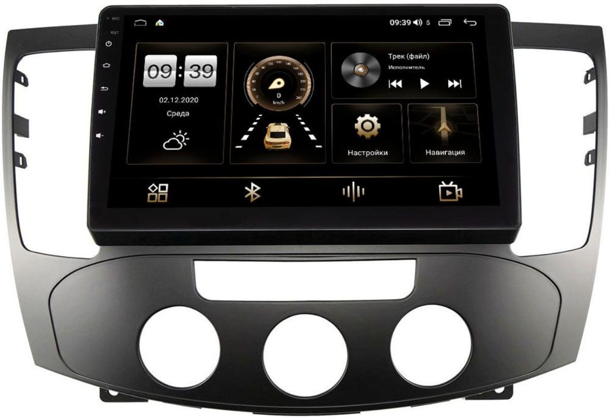 Штатная магнитола LeTrun 4166-9335 для Hyundai Sonata V (NF) 2008-2010 (авто с кондиционером) на Android 10 (4G-SIM, 3/32, DSP, QLed) (+ Камера заднего вида в подарок!)