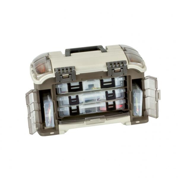 цена на Ящик Plano 767-000 с 6ю различными коробками и верхним отсеком для инструмента