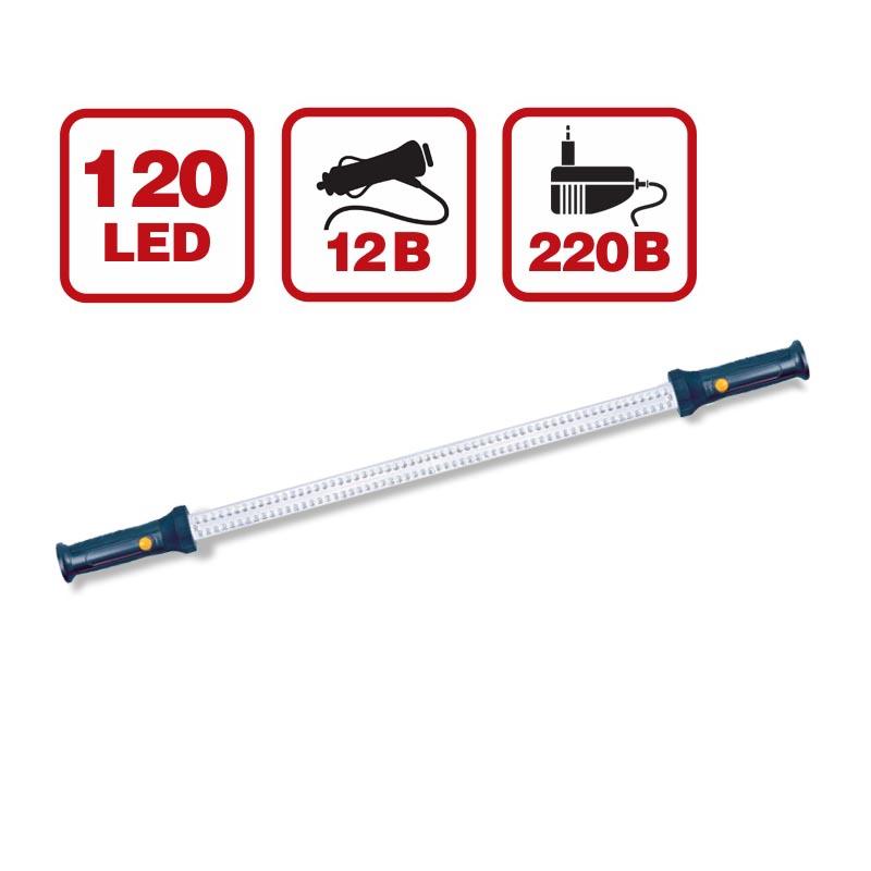 Светильник переносной AVS CD812A 120LED (12/220В, вн. акб)
