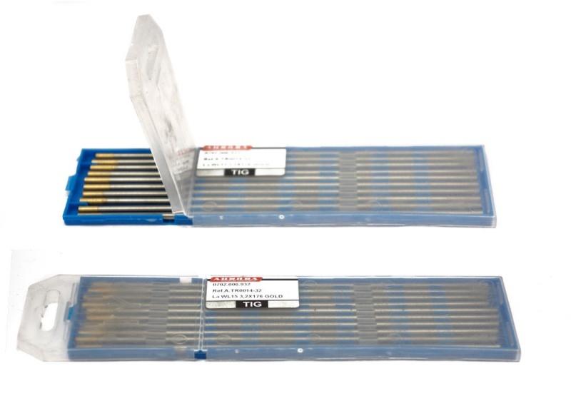 Вольфрамовый электрод WL 15 d 4,0x175mm GOLD кедр электрод вольфрамовый wl 20 175 10 шт 3 2 мм синий ac dc 7340006