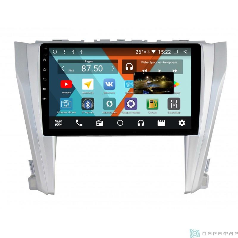 Штатная магнитола Parafar с IPS матрицей для Toyota Camry V55 на Android 8.1.0 (PF466K) штатная магнитола carmedia kdo 1030 dvd toyota camry 11 2014 v55 page 2