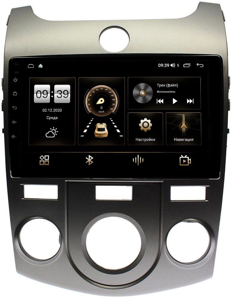 Штатная магнитола Kia Cerato II 2009-2013 для авто с кондиционером LeTrun 4166-9128 на Android 10 (4G-SIM, 3/32, DSP, QLed) (+ Камера заднего вида в подарок!)