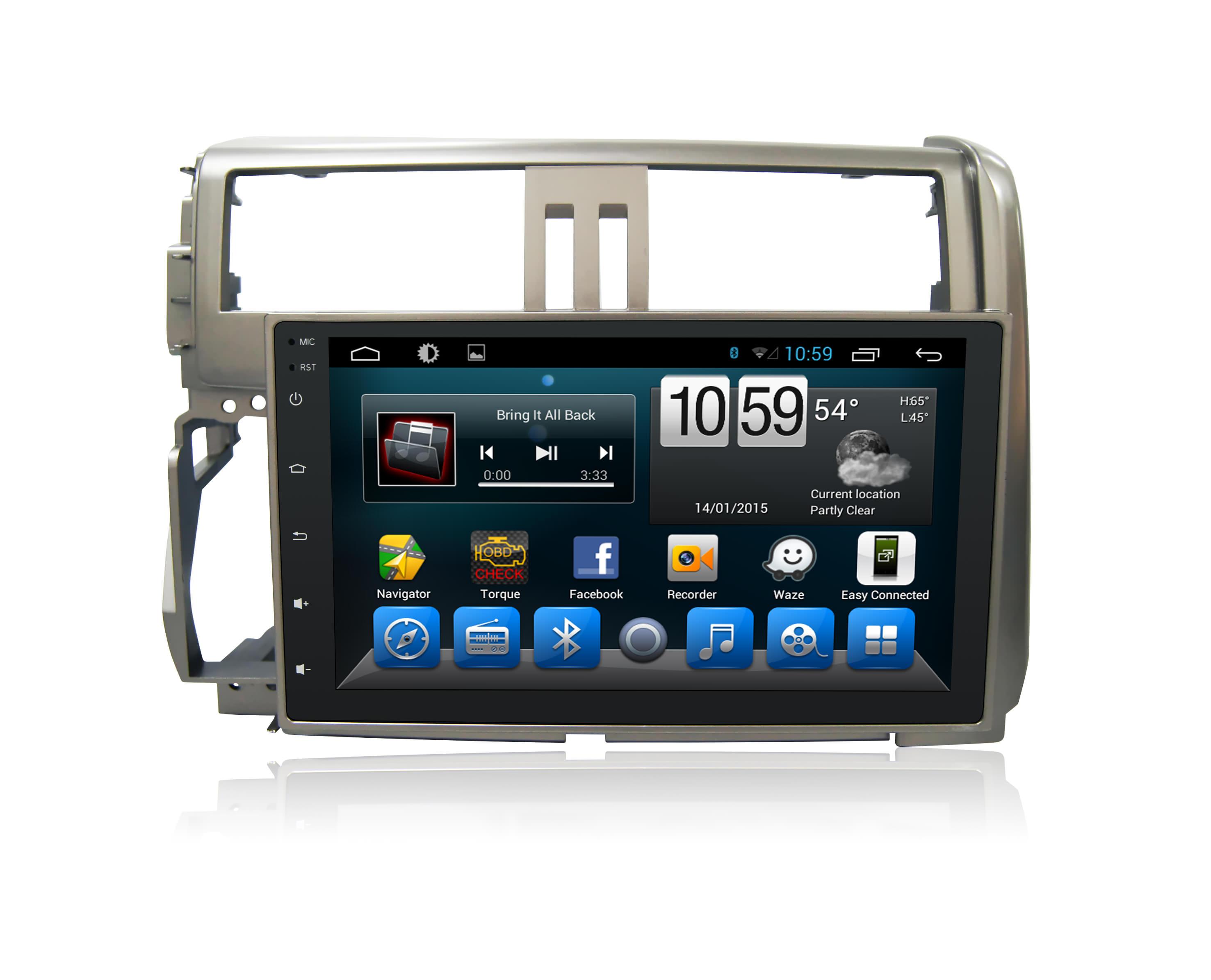 Штатная магнитола CARMEDIA QR-9034-T3 DVD Toyota LC PRADO 150 2009-2013 темно-серый (поддержка усилителя, парктроников, бк) (1)